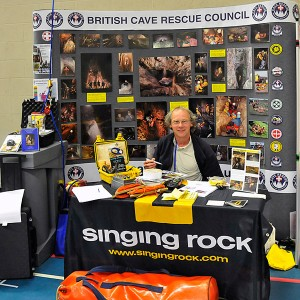 BCRC Treasurer Paul Taylor takes care of the stand at Hidden Earth 2014