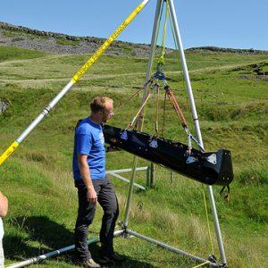 Demo of a K&B stretcher and Larkin Frame