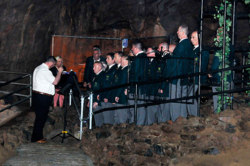 Male Voice choir in Cathedral Cavern