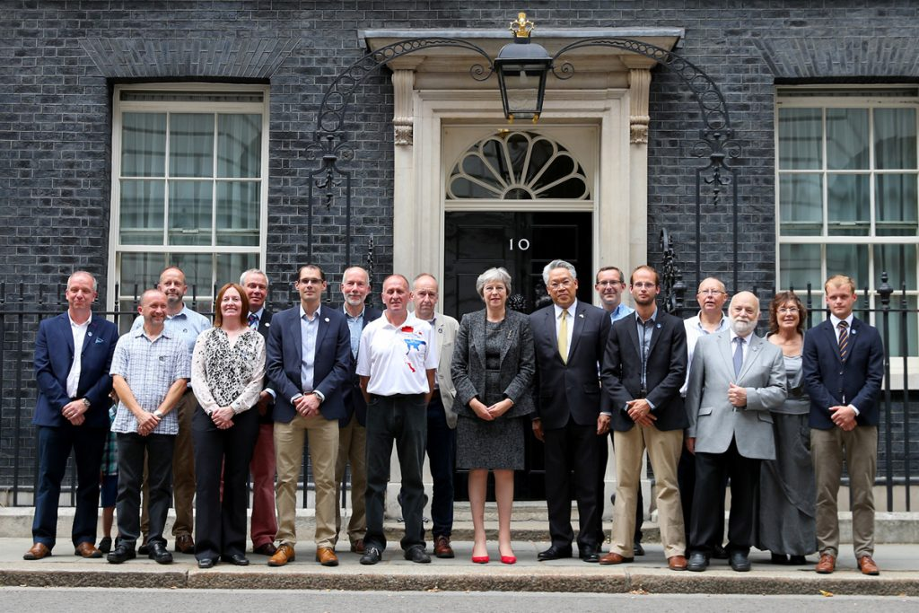 BCRC divers and support staff at No 10