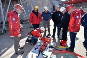 Evaluating the prototype React long Slix stretcher