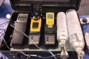 Gas detector calibration kit (Peter Dell)