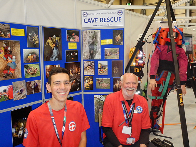 Devon CRO Members looking after the BCRC stand