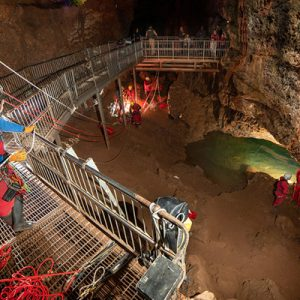 Hauling and rescue rigging, Wookey Hole (Pic: B.Biela)