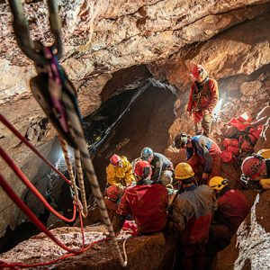 Sunday rescue practice in Wookey Hole (Pic: B.Biela)