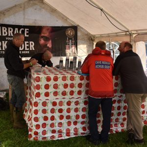 Not forgetting the beer tent!