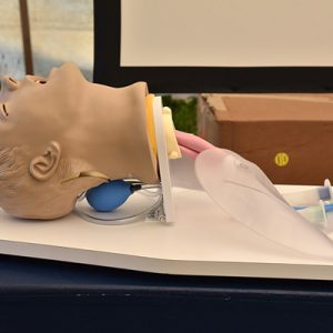 Newly acquired airway management training aid