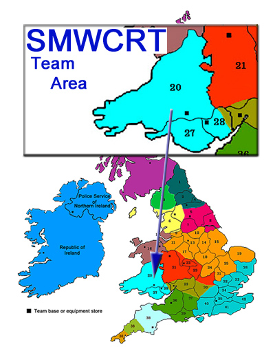 South and Mid Wales Cave Rescue Team area