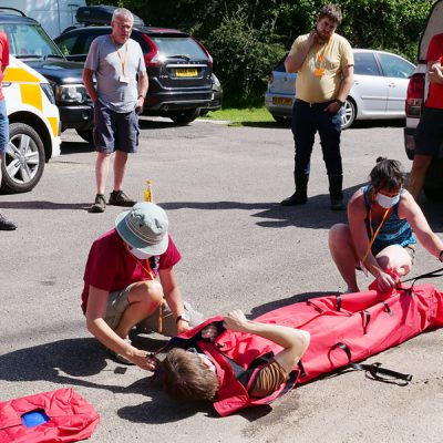 Packing and interacting with a casualty